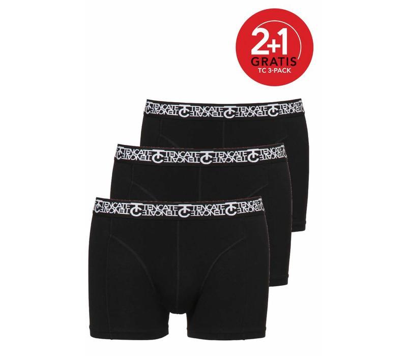Ten Cate Heren Short 3-pack Zwart