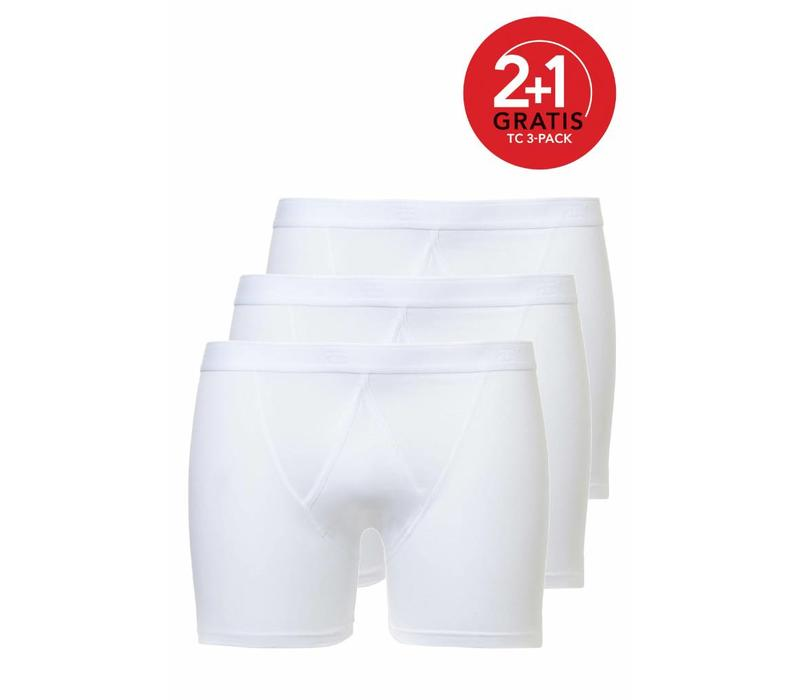 Ten Cate Heren  Basic Boxer Fly 3-Pack Wit