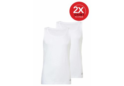 Ten Cate Ten Cate Heren Singlet 2-Pack Wit