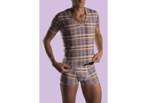 RJ Bodywear RJ Bodywear T-Shirt V-Hals Scottisch Strech