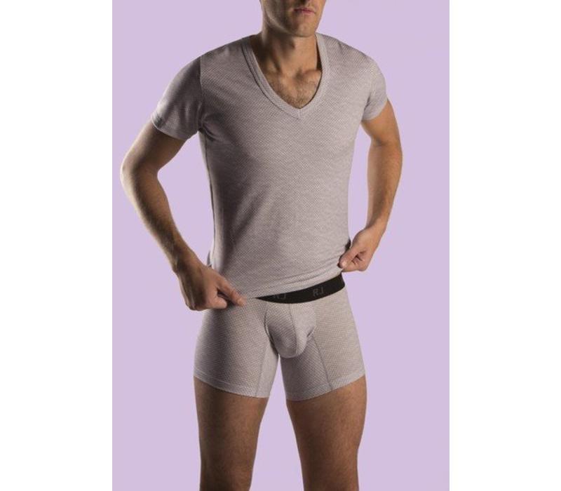RJ Bodywear Heren V-hals Melee Strech
