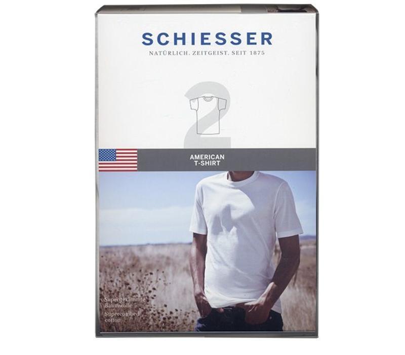 Schiesser T-shirt R-hals 2-pack