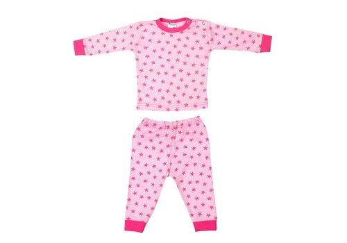 Beeren Ondergoed Beeren Ondergoed Baby Pyjama Stripe/Star Roze