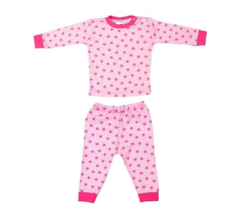 Beeren Ondergoed Baby Pyjama Stripe/Star Roze
