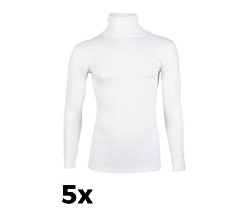 Beeren Ondergoed Unisex Thermo hemd Lange Mouw Wolwit Bundel van 5