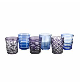 Pols Potten Tumbler Cobalt Mix Set of 6