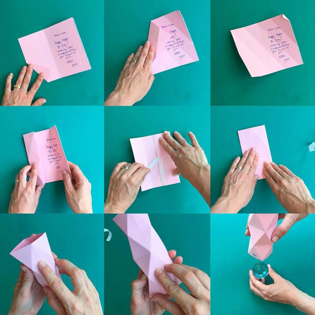Kaart-Vaas Xoxo Pink