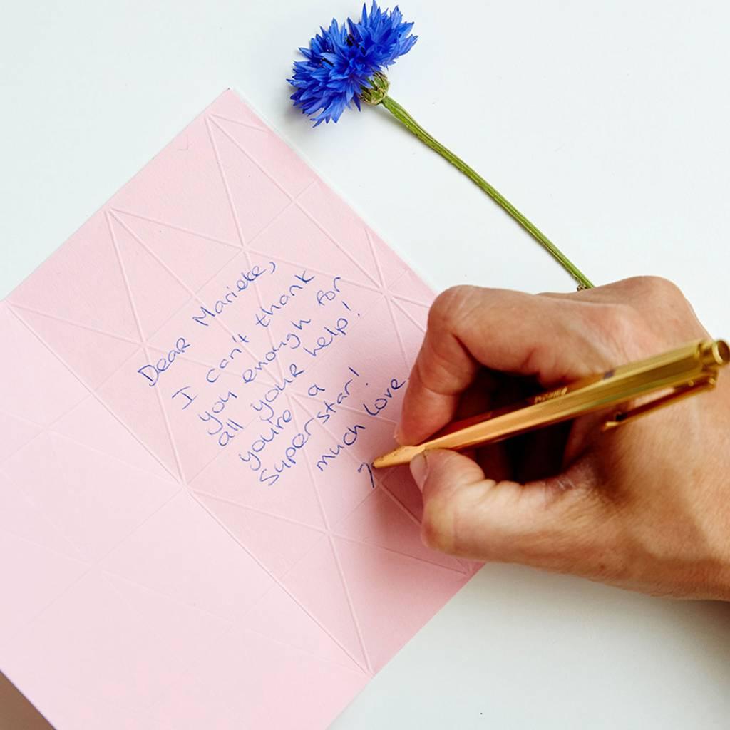 Kartenvase Impress Pink