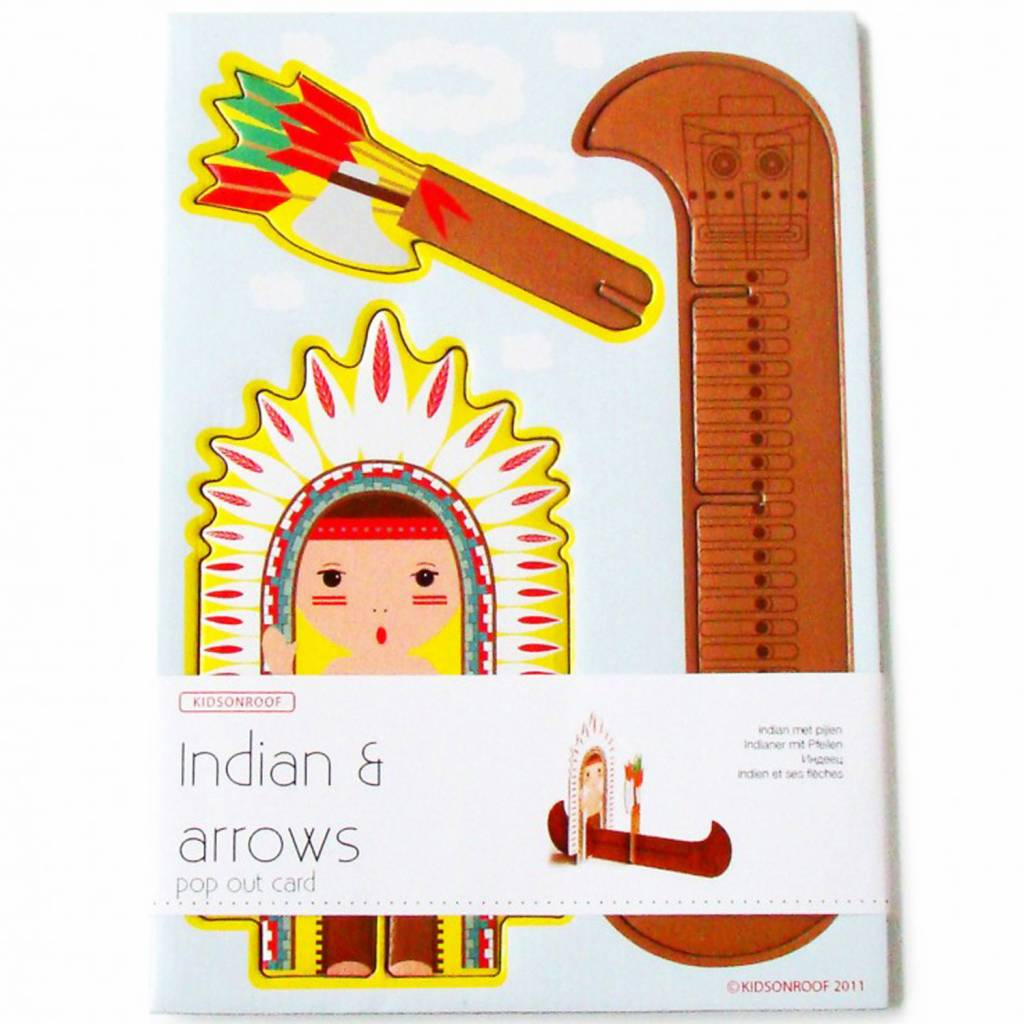 Pop Out Card Indian A5