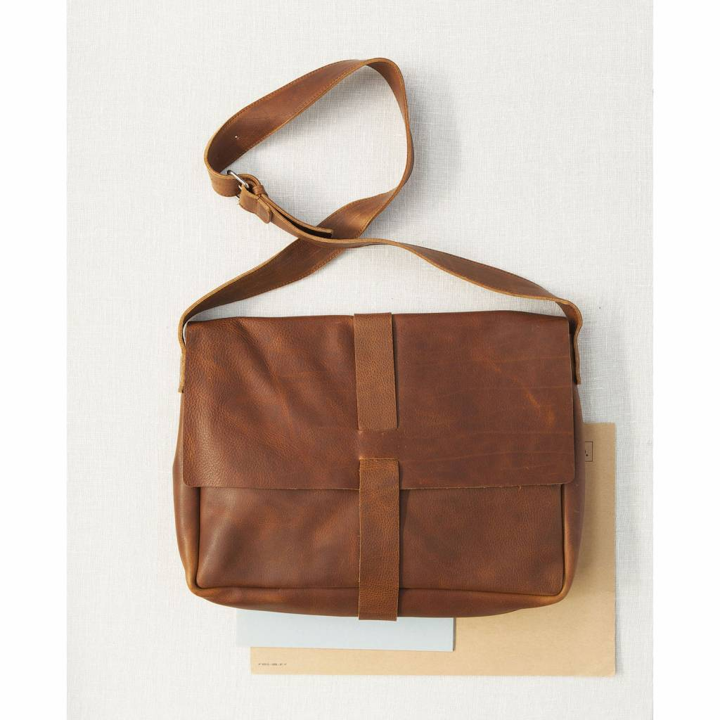 Tasche Big Business Cognac used look