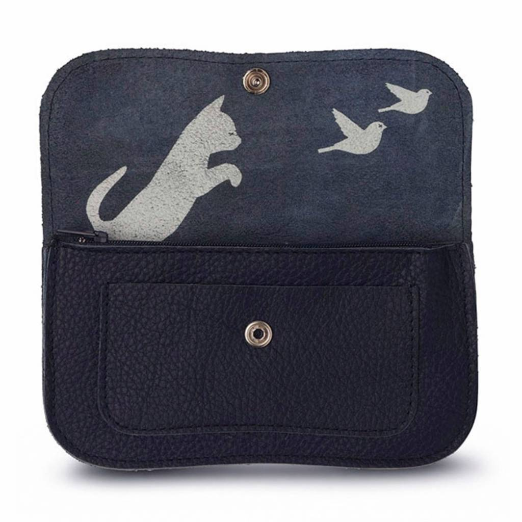 Wallet Cat Chase Inkblue