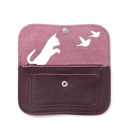 Keecie Wallet Cat Chase Eggplant
