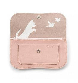 Keecie Wallet Cat Chase Soft Pink