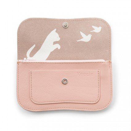 Portemonnee Cat Chase Soft Pink