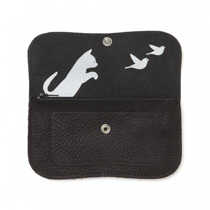 Wallet Cat Chase Black
