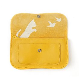 Keecie Wallet Cat Chase Yellow
