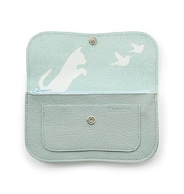 Keecie Wallet Cat Chase Dusty Green