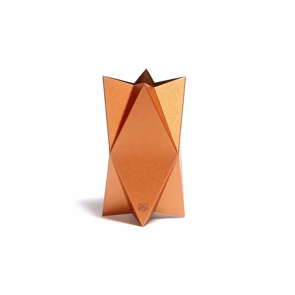 Kaart-Vaas Impress Copper