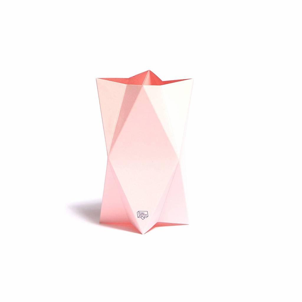 Kaart-Vaas Impress Pink