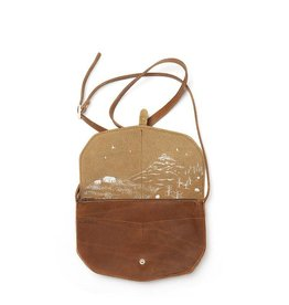 Keecie Move Mountains Bag - Cognac used look