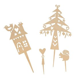 ENGELpunt Wooden Cake Toppers Winter