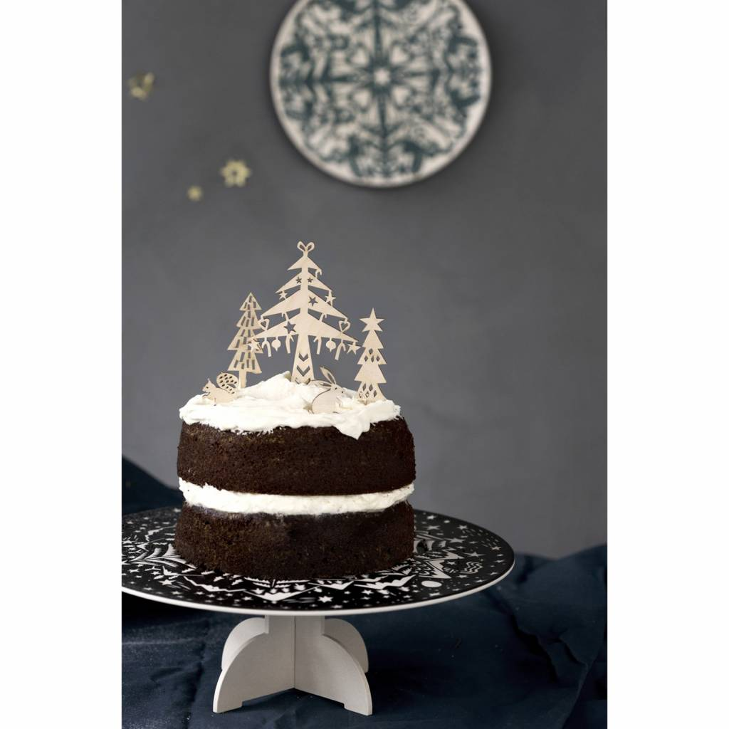Houten Cake Toppers Winter