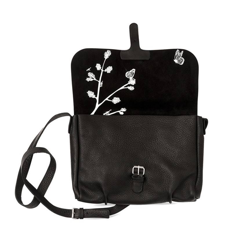 Bag Flora & Fauna Black