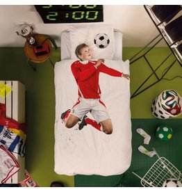 Snurk beddengoed Bettwäsche Soccer Champ Red 1-Person