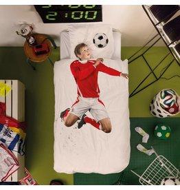 Snurk beddengoed Duvet Cover Soccer Champ Red Single