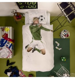 Snurk beddengoed Duvet Cover Soccer Champ Green Single