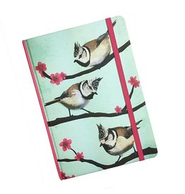 Myrte Notebook with Crested tits illustration