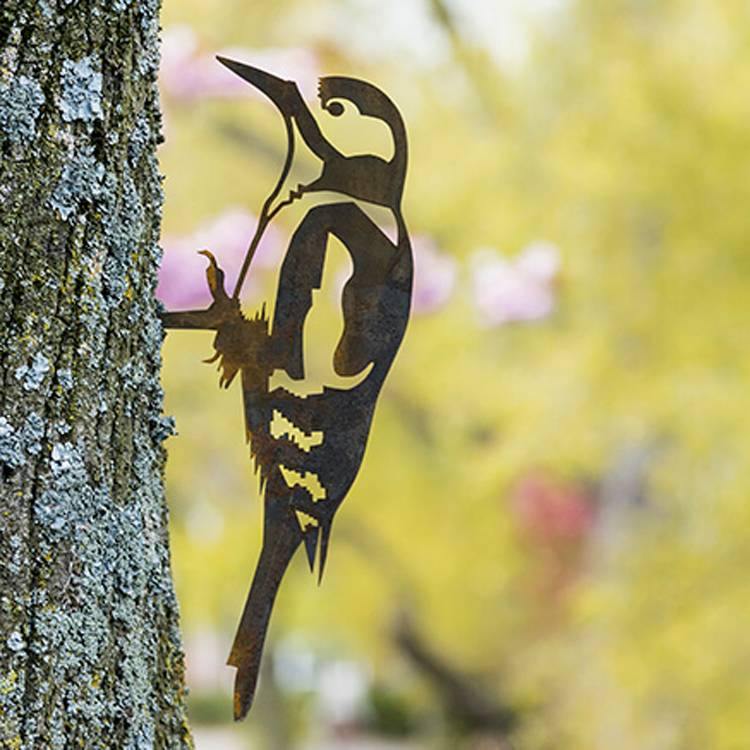 Vogel Silhouette Buntspecht
