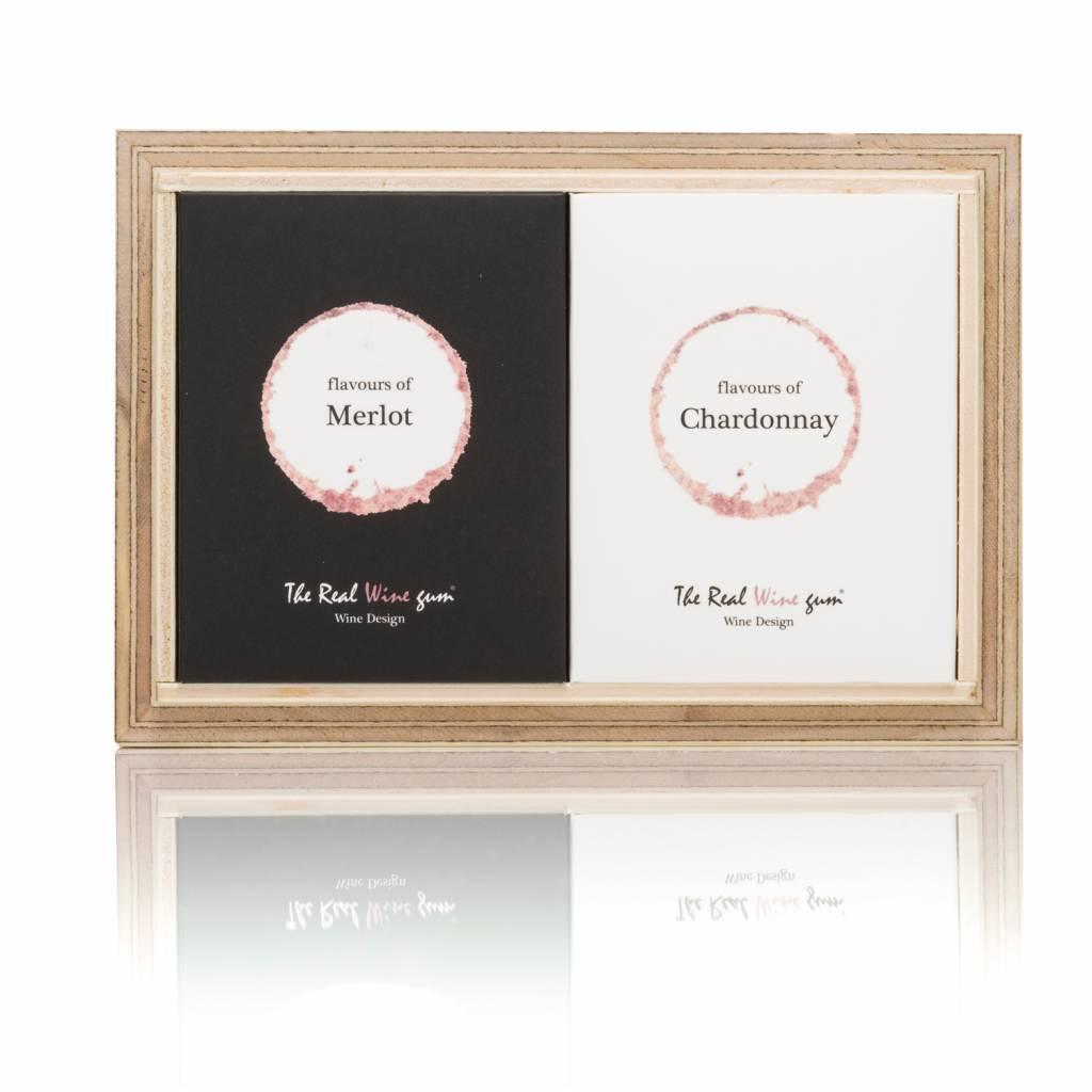 Geschenkbox Merlot und Chardonnay