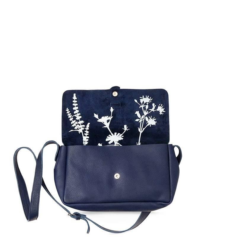 Bag Picking Flowers Inkblue