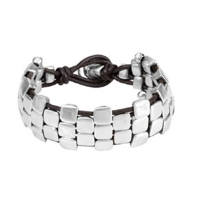 UNOde50 UNO de 50 Armband | CLAVADOS | Zilver | Leer