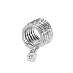 UNOde50 UNO de 50 Ring | PRISONER | Zilver | 6 Ringen