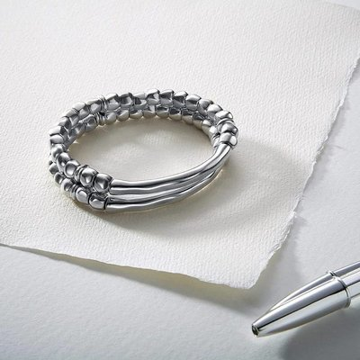 UNOde50 UNOde50 Armband | TANDEM | Zilver | Dubbel | Elastisch | PUL1211MTL0000M