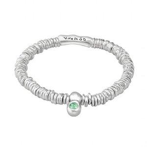UNOde50 UNOde50 Armband | GREEN STONE | Zilver | Swarovski | Elastisch