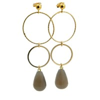 LILLY LILLY Oorbellen - Ringsister Stone Gold | Agate | 14 Karaats