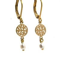 LILLY LILLY Oorbellen - Tree of Life Gold | Pearl | 14 Karaats
