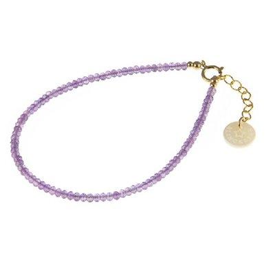 BLINCKSTAR BLINCKSTAR Armband | Goldfilled | Amethist | Paars | 1801A37