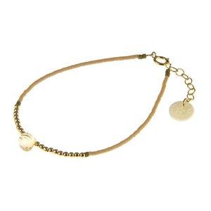 BLINCKSTAR BLINCKSTAR Armband | Goldfilled | Citrien | Beige