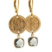 LILLY LILLY Oorbellen - Inca Crystal Gold | Green | G31