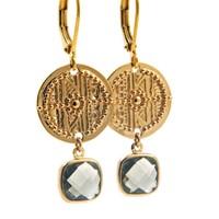 LILLY LILLY Oorbellen - Inca Crystal Gold | Green | 14 Karaats