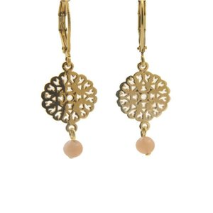 LILLY LILLY Oorbellen - Filli Small Gold | Moonstone | 14 Karaats