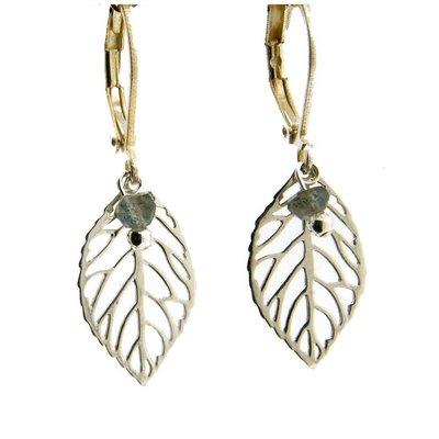 LILLY LILLY Oorbellen - Little Leaf Silver | Labradoriet | Z13