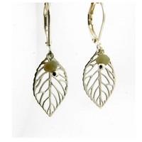 LILLY LILLY Oorbellen - Little Leaf Silver | Zilver | Agaat | Groen