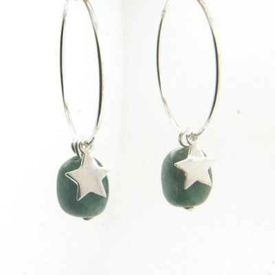 LILLY LILLY Oorbellen - Precious Star S Silver | Jaspis | Z6