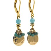 LILLY LILLY Oorbellen - Bunchy Drop Gold | Amazonite | G39