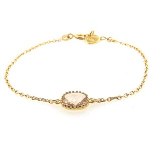 LILLY LILLY Armband | Square Crystal Gold | 14 Karaats | Champagne